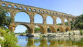 Roman Aqueduct Pont Du Gard. Languedoc,France Royalty Free Stock Photography - 26094107
