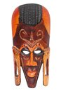 African Hand Carved Wooden Warrior Maasai Mask Royalty Free Stock Photo - 26095505