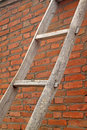 Ladder And Walls Royalty Free Stock Photography - 26097017