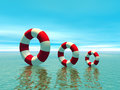 Red And White Life Guard Ring Royalty Free Stock Images - 2618209