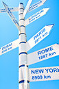 Distance Sign Royalty Free Stock Photo - 26109345