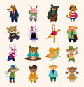 16 Cute Animal Icons Set Stock Photo - 26109580