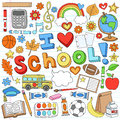I Love School Supplies Vector Design Elements Royalty Free Stock Photo - 26109865
