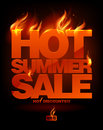 Fiery Hot Summer Sale Design. Royalty Free Stock Photography - 26112887