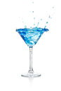 Blue Curacao Cocktail Royalty Free Stock Photo - 26116455