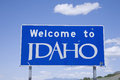 Welcome To Idaho Sign Stock Photography - 26126602