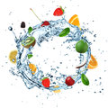 Fruit Water Splash Stock Images - 26128134