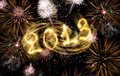2013 Made Of Sparks Royalty Free Stock Image - 26129206