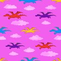 Seamless Background, Colorful Dragons Flies Royalty Free Stock Photos - 26129368
