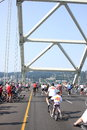 Bicyclists Takeover Portland Royalty Free Stock Photography - 26135977