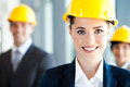 Pretty Construction Businesswoman Royalty Free Stock Image - 26137116