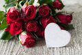Roses And Heart Royalty Free Stock Photo - 26140465