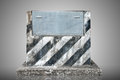 Old Cement Podium And Metal Plate Royalty Free Stock Images - 26152509