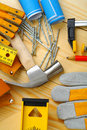 Carpentry Tools Set Royalty Free Stock Image - 26154316