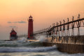 Grand Haven Lighthouse Royalty Free Stock Photos - 26165348