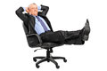 Mature Businessman Resting In Armchair Royalty Free Stock Image - 26175276