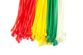 Closeup Group Nylon Cable Ties Stock Images - 26190884