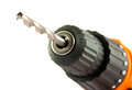 Cordless Drill With Twist Bit Royalty Free Stock Photography - 26194337