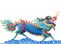 Chinese Style Blue Dragon Statue Royalty Free Stock Photos - 26195298
