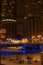 Chicago Marina Towers At Night Royalty Free Stock Photos - 2623288