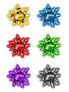 Christmas Bow Set Royalty Free Stock Images - 26201409