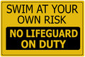 Swim At Own Risk Sign Royalty Free Stock Image - 26202706