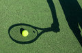 Shadow Of A Tennis Player Stock Photography - 26207562