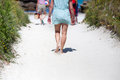 People Walking To The Beach Stock Image - 26208031