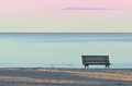 Bench On The Beach Royalty Free Stock Photo - 26235065