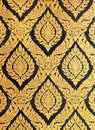 Flower Pattern In Traditional Thai Style Art Paint Royalty Free Stock Image - 26247046