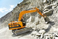 Track-type Loader Excavator At Mountain Work Stock Photography - 26248302
