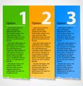 Colorful Torn Paper Progress Option Label Royalty Free Stock Image - 26255966