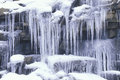 Icicles On Rocks Royalty Free Stock Image - 26259676