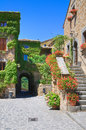 Alleyway. Civita Di Bagnoregio. Lazio. Italy. Royalty Free Stock Photos - 26264158
