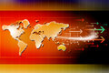 Arrows And World Map Royalty Free Stock Images - 26264639