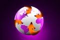 Globe With Arrows Royalty Free Stock Images - 26264699
