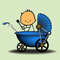Baby Carriage Royalty Free Stock Images - 26268689