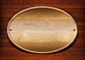 Oval Wood Board On Wall Royalty Free Stock Photos - 26285798