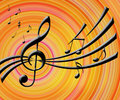 Music Notes Background Royalty Free Stock Photos - 2631358