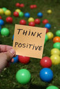Think Positive Royalty Free Stock Photography - 26301657