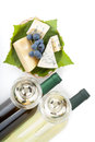 White Wine, Cheese And Grape Royalty Free Stock Images - 26313769