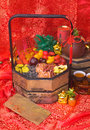 Dried Fruits On Chinese New Year Background Stock Photos - 26319533