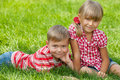 Resting On The Grass Stock Images - 26320184