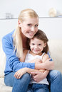 Smiley Mum With Her Daughter Stock Photos - 26322653