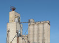 Old Concrete Grain Elevator Complex . Royalty Free Stock Images - 26331599