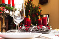 Set Up Christmas Table Royalty Free Stock Photo - 26343145