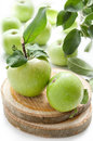 Juicy Green Apples Stock Images - 26344584
