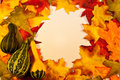 Fall Leaves With Gourds Royalty Free Stock Images - 26346379