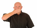 Man With Hand Over Mouth Stock Images - 26364004