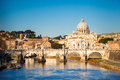 Tiber And St. Peter S Cathedral, Rome Stock Photo - 26369930